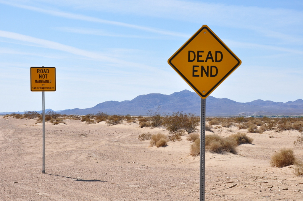 Panneau Dead End, Arizona